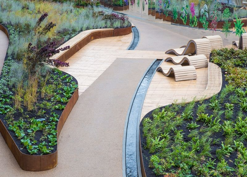 Handyside Gardens in London. By Townshed Landscape Architects.