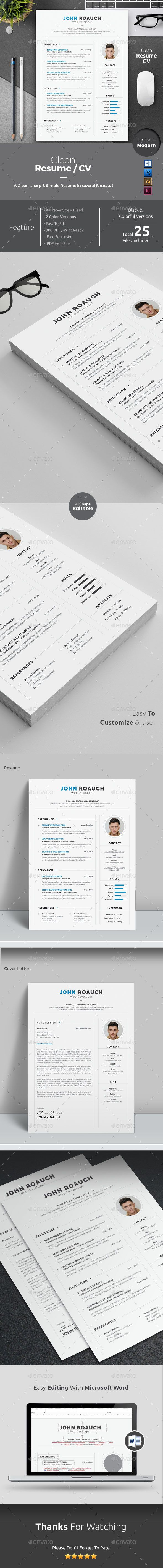 Resume Word  Resume Words Template And Cv Template