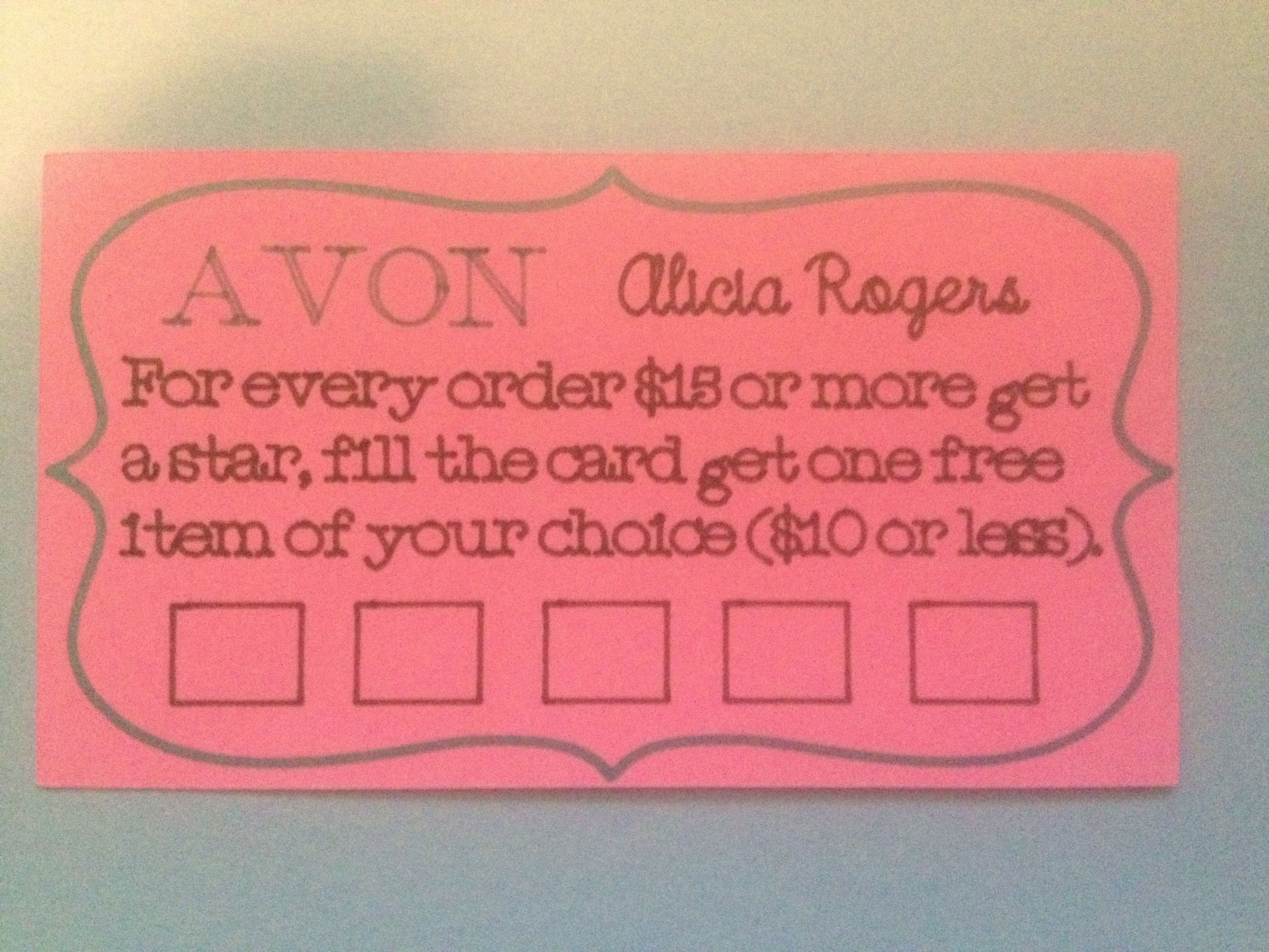 Avon loyalty card. Youravon.com/aliciarogers #cricut | Avon ...