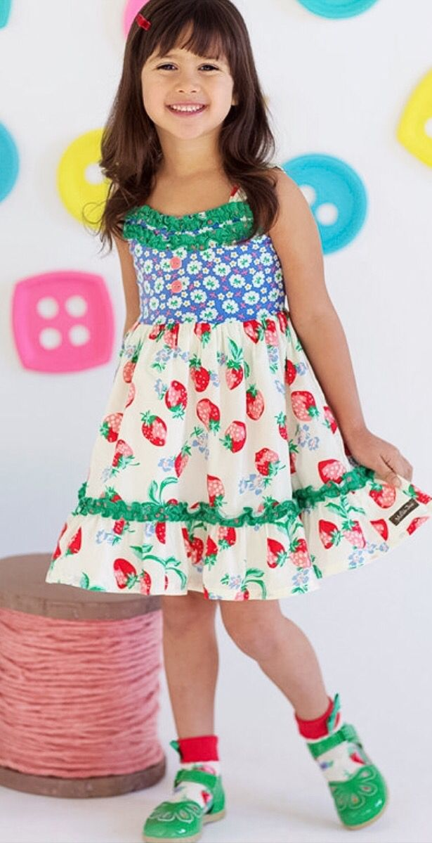 6ea7f3e3211 Matilda Jane - Happy and Free - Spring 2016 - Strawberry Crumble dress  Jessica Van Roy Independent Matilda Jane Trunk Keeper  1590