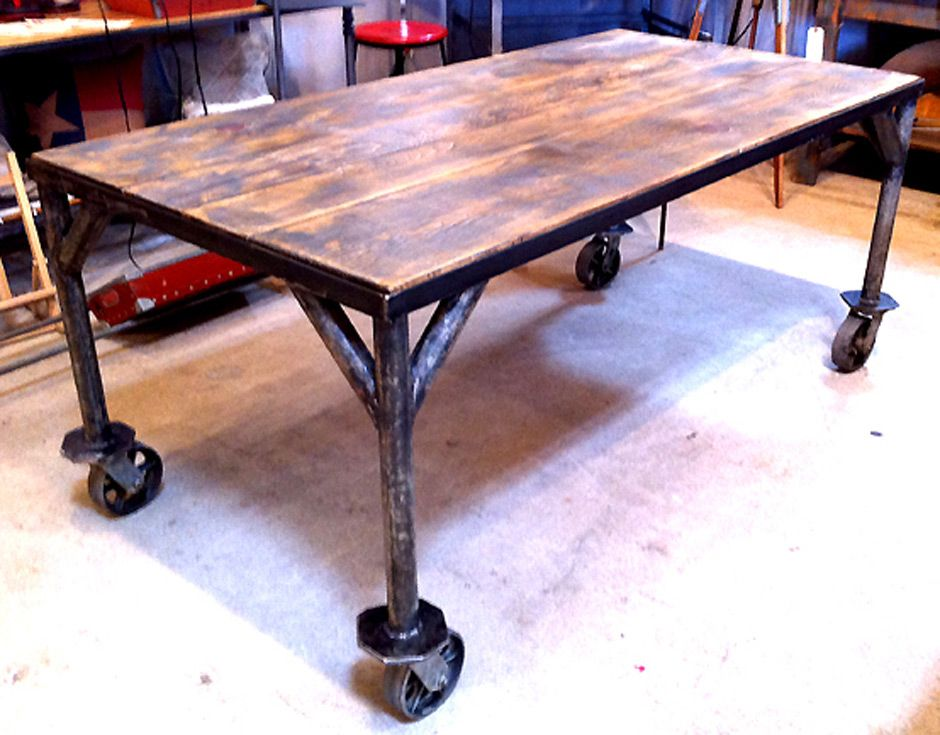 Cococozy November 2009 Iron Frame Dining Table Zinc Top On Wheels At