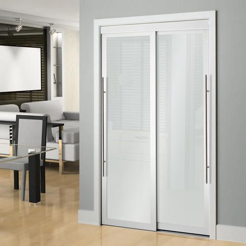Colonial Elegance Lounge 72 X 80 1 2 Framed Frosted Glass Sliding Door At Menards Doors Interior Sliding Patio Doors Sliding Closet Doors