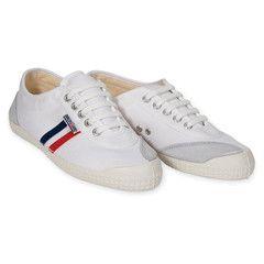 Tivoli White with Navy + Red Stripes