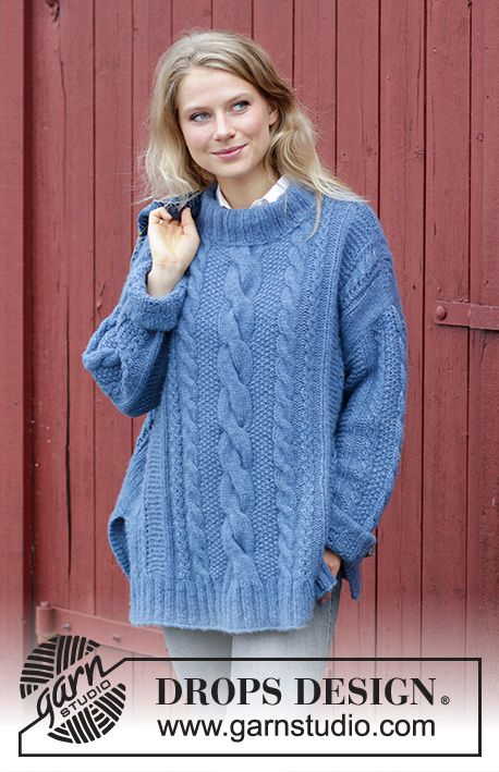 Midnight Cables / DROPS 184-12 - Free knitting patterns by DROPS Design