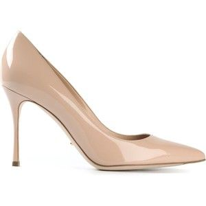 Sergio Rossi patent pointed toe pumps