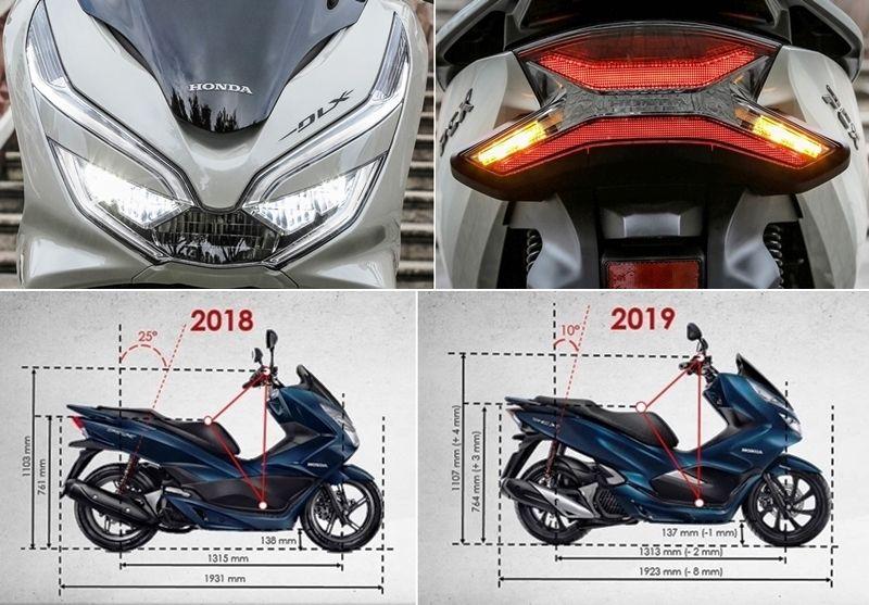 Pcx 2019 Agora Full Led Abaixo Note A Diferenca Da Posicao Dos Amortecedores Traseiros Honda Bikes Honda Tyres Recycle