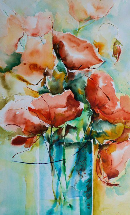 Les Feux De Bengale Peinture 30x50 Cm Par Veronique Piaser