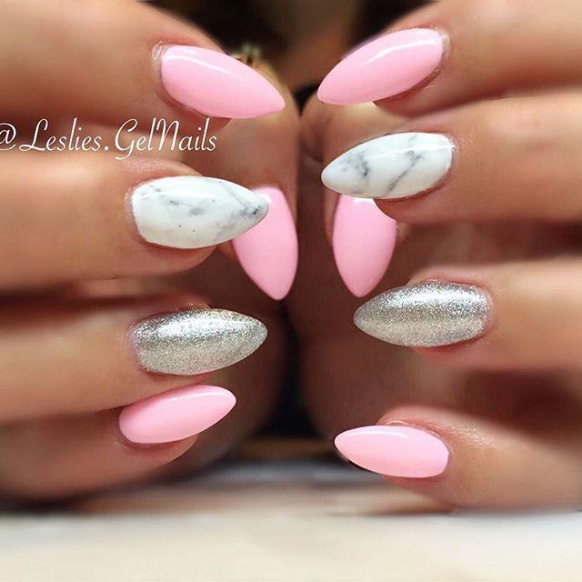 Pin By Hannah Kifer On Nails Almond Nails Designs Summer Almond
