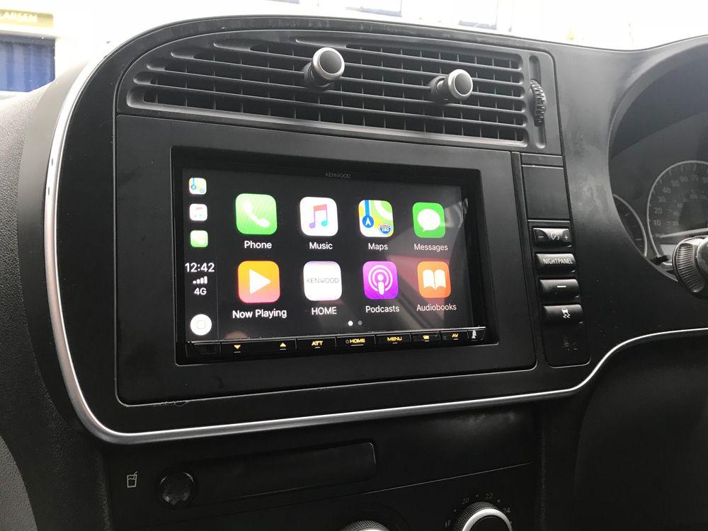 Kenwood Dmx7017dab Installed In Saab 93 56 Reg Installation Kenwood Car Radio