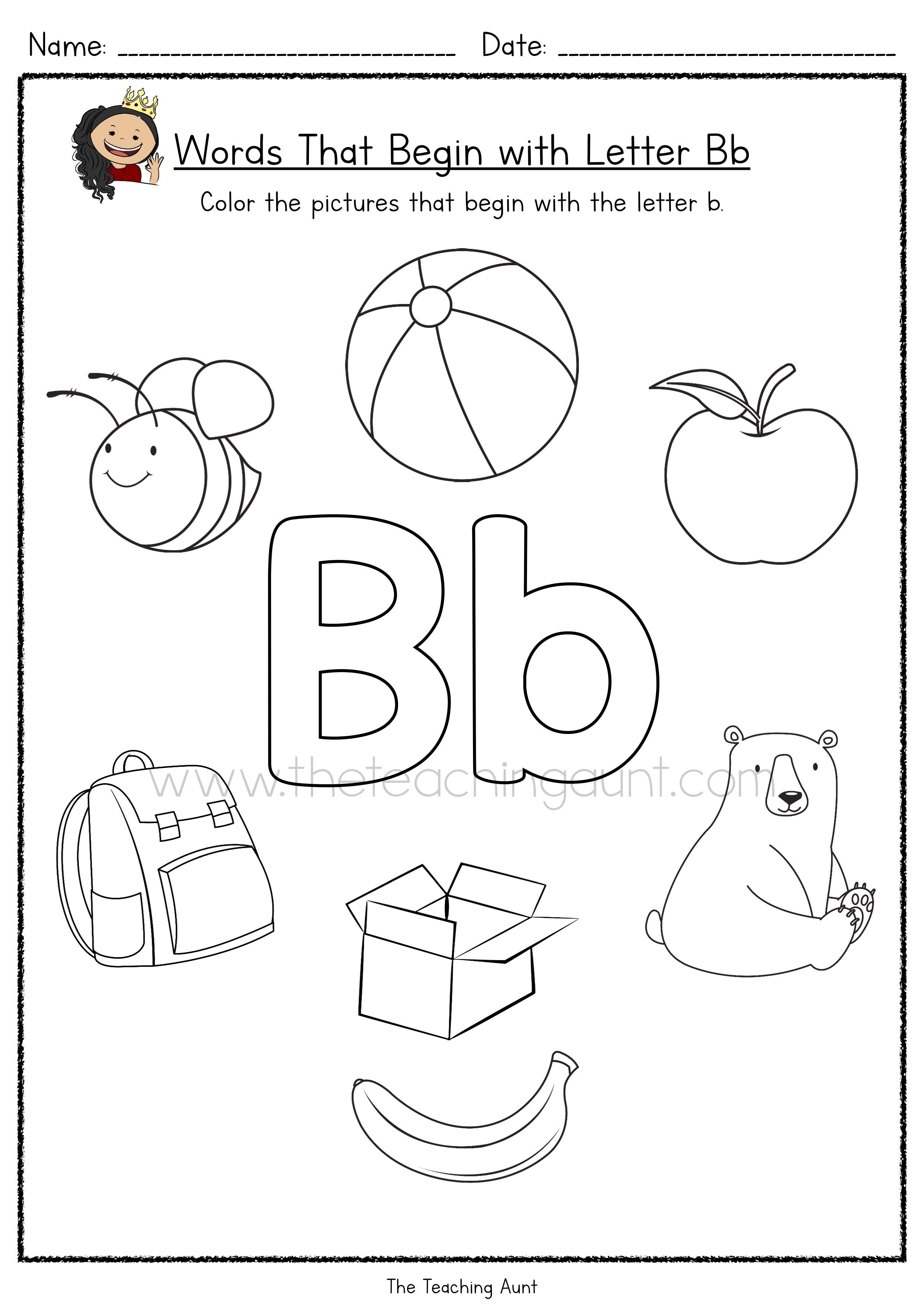 Free Beginning Letter Sounds Worksheets