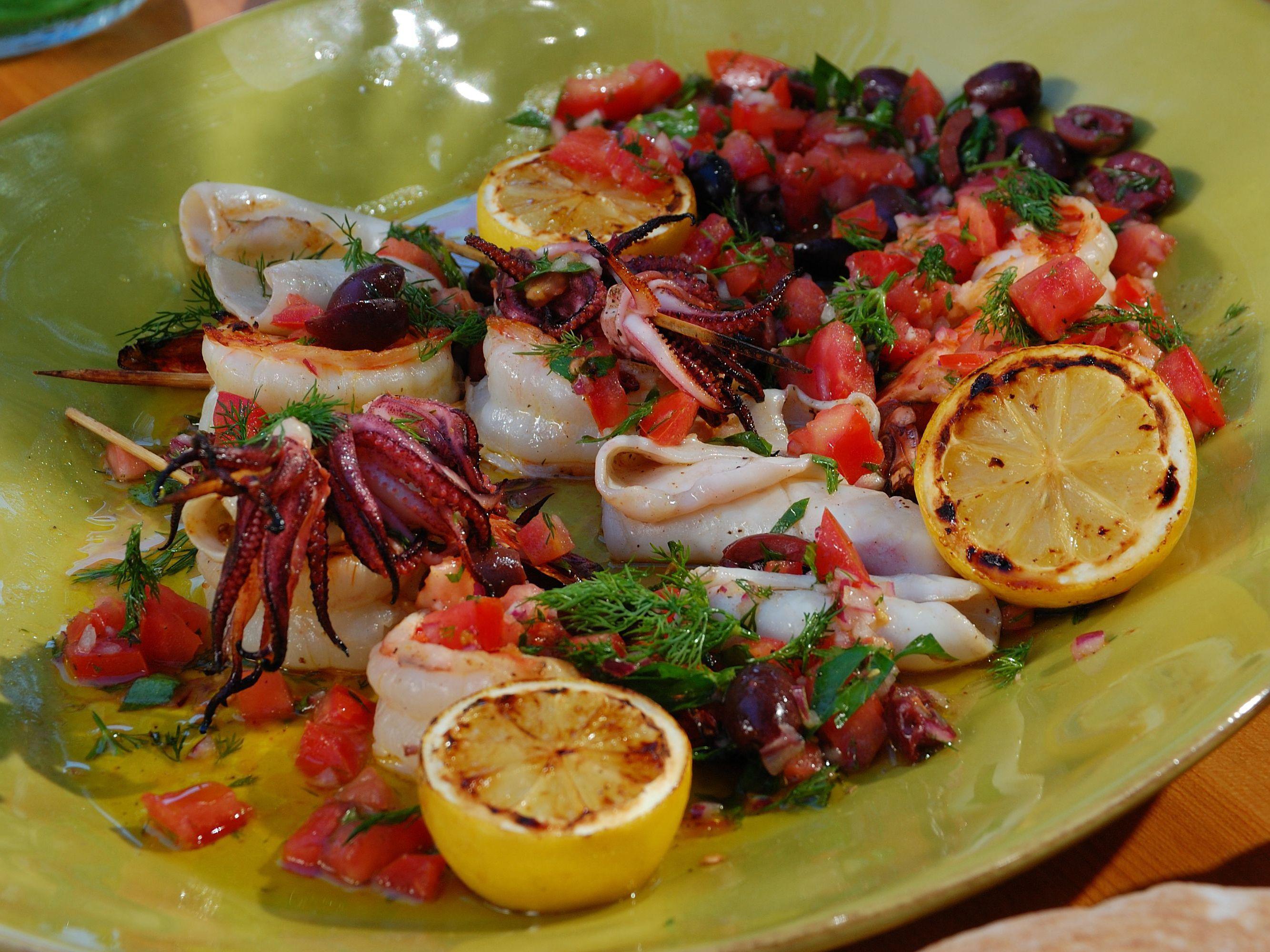 Grilled Shrimp Salad Recipe Bobby Flay