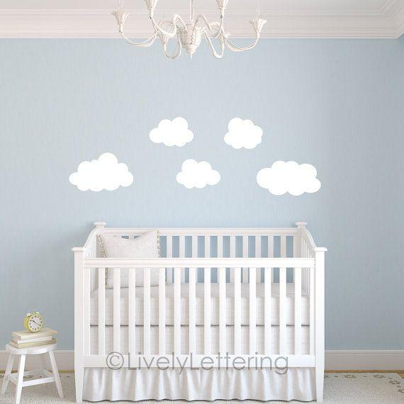 Cloud Decal Cloud Wall Decals Cloud Nursery Puffy Cloud - Nursery wall decals clouds