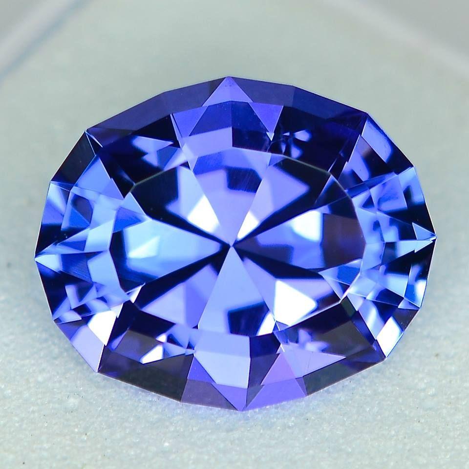MJ966 - 3.20ct Tanzanite - Tanzania 10.43 x 8.82 x 5.62 mm clean, custom cut, standard heat, $1650 shipping via FedEx included