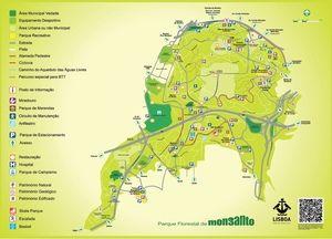 parque florestal de monsanto mapa Mapa do Parque Florestal de Monsanto   Trips   Pinterest   Parque  parque florestal de monsanto mapa