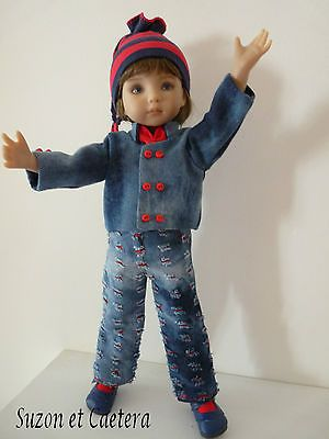 OOAK-Handmade-unique-OUTFIT-Little-Darling-D-Effner-Jean-pour-Jeanne. Ends 9/28/14. SOLD for $65.00