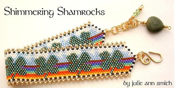 JULIE ANN SMITH Designs Shimmering shamrocks