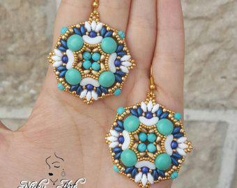 Earrings Greece - beading pattern
