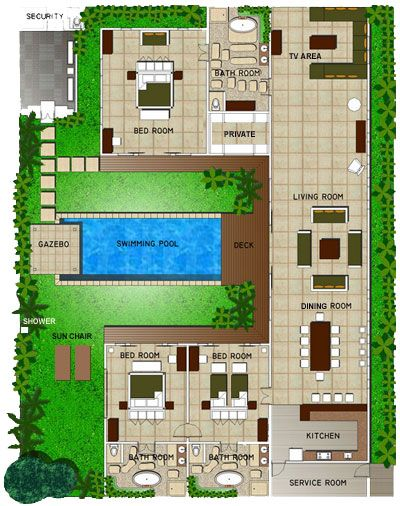 Villa tania layout ideas for the house pinterest for Swimming pool plan layout