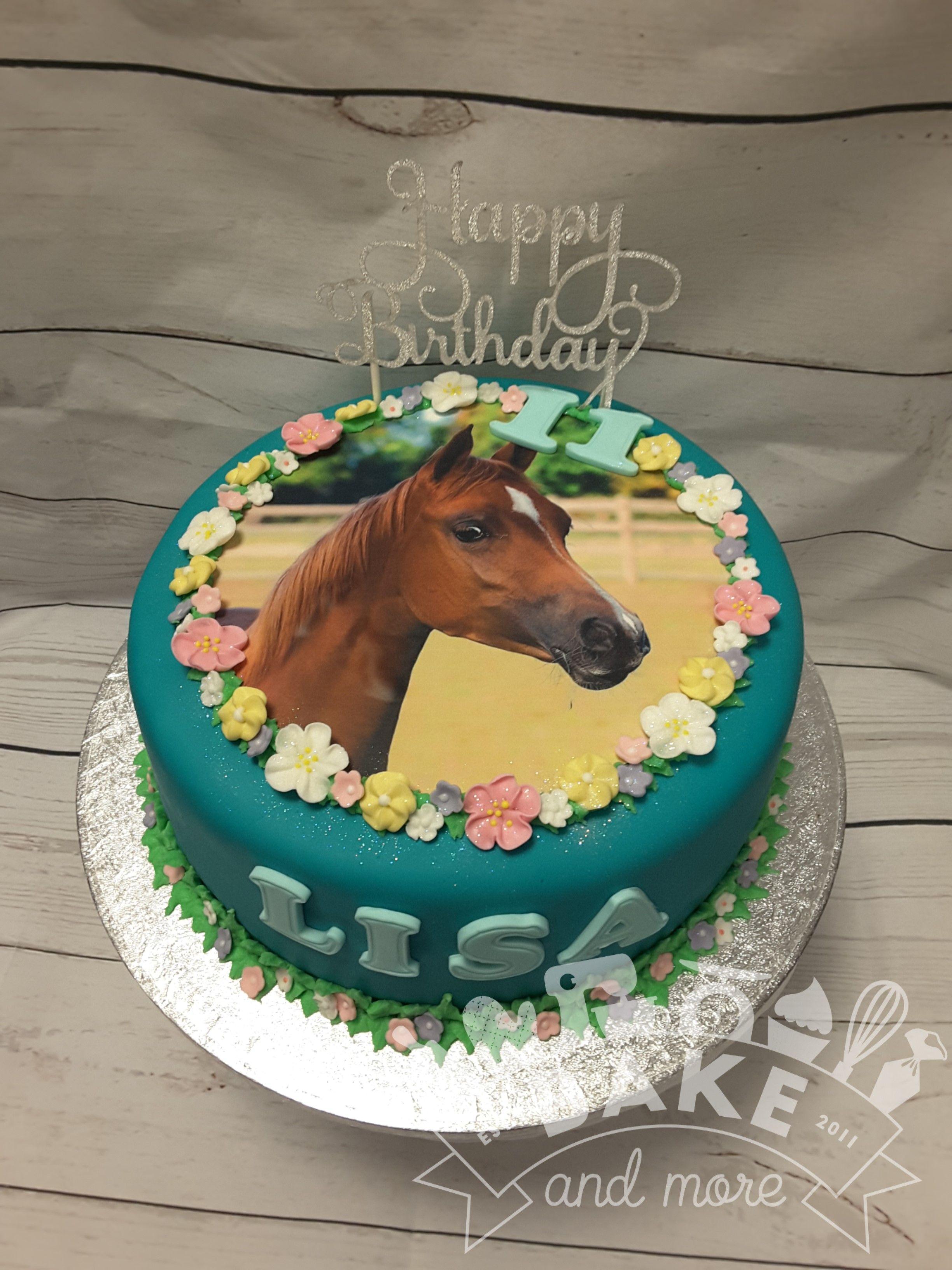 Birthday Cake With Horse Theme