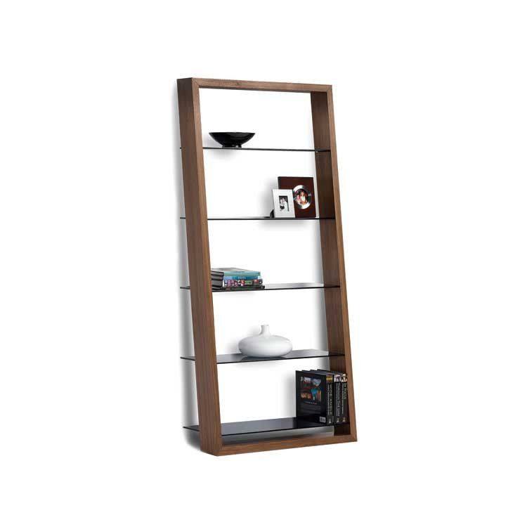 Modern Wood Leaning Shelf Bellevue Modern Furniture Store New