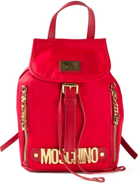 d048f7619c2 Shop Moschino logo plaque backpack in Profile from the world s best  independent boutiques at farfetch.com. Shop 300 boutiques at one address.