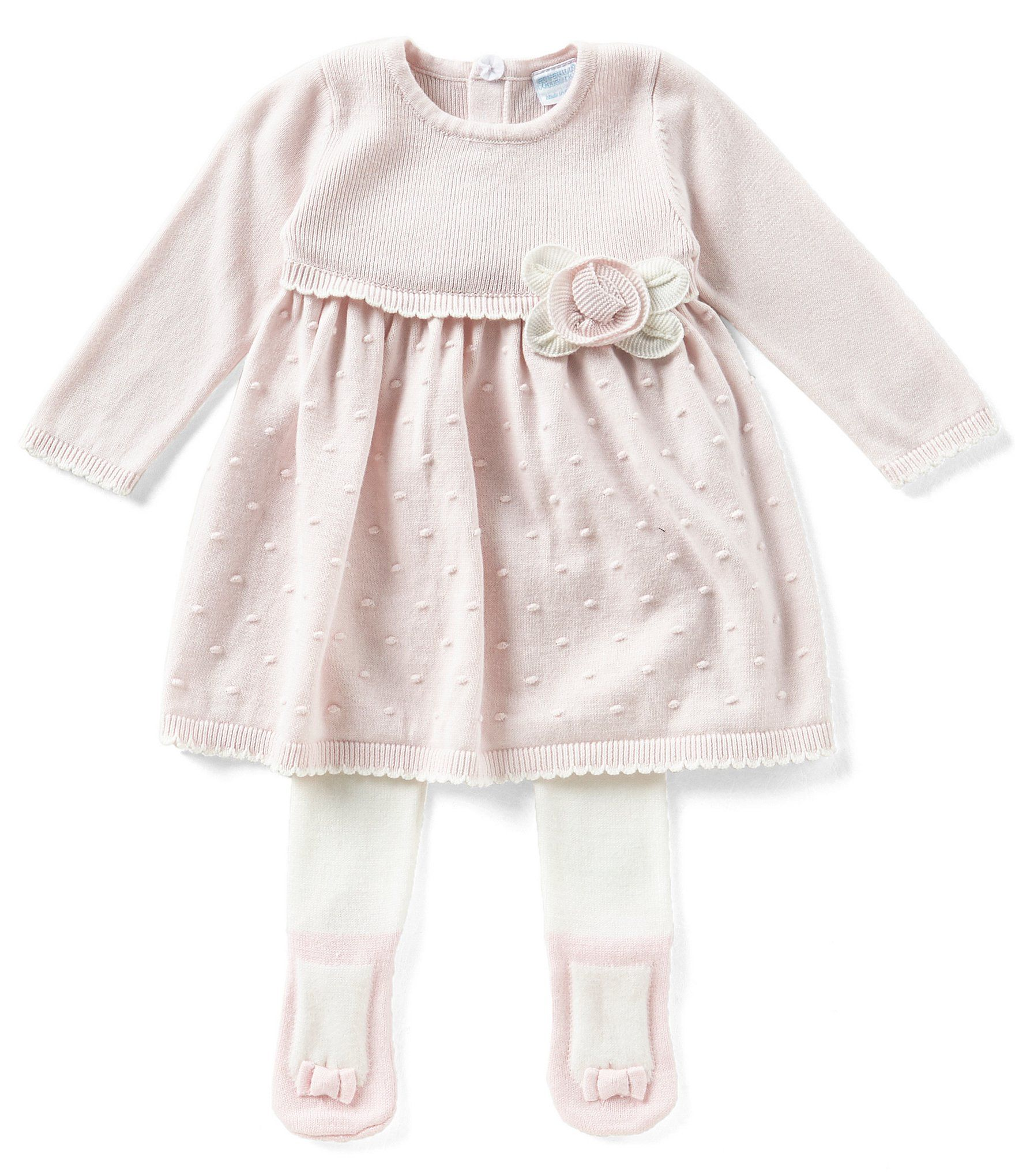 Edgehill Collection Baby Girls Newborn 6 Months Flower Applique