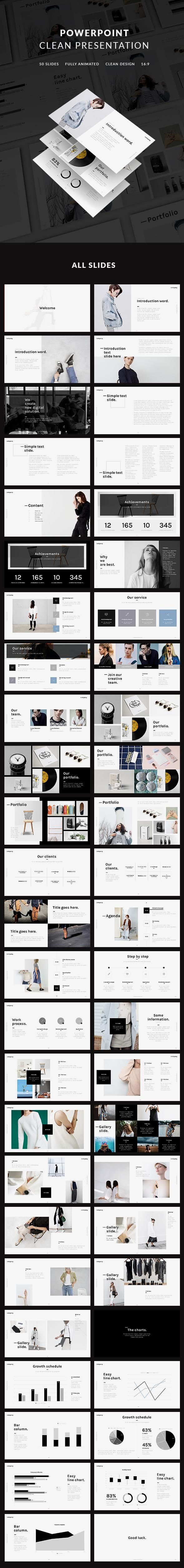 Clean Presentation for $20 GraphicRiver presentation powerpoint