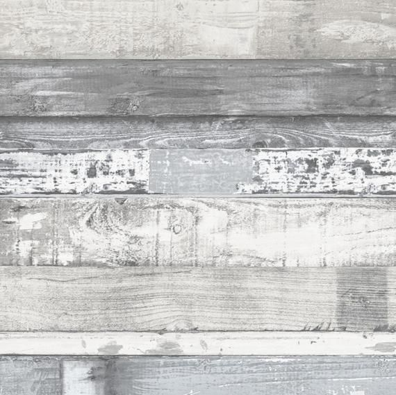 Reclaimed Beach Wood Wallpaper Gray Weathered Plank