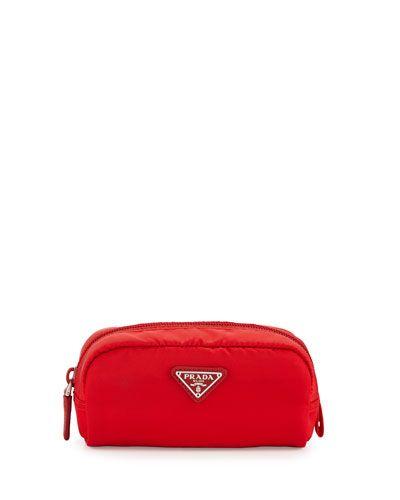 61eccb82df2c PRADA Small Nylon Rectangle Cosmetic Case, Red (Rosso). #prada #bags  #lining #nylon #cosmetic #accessory