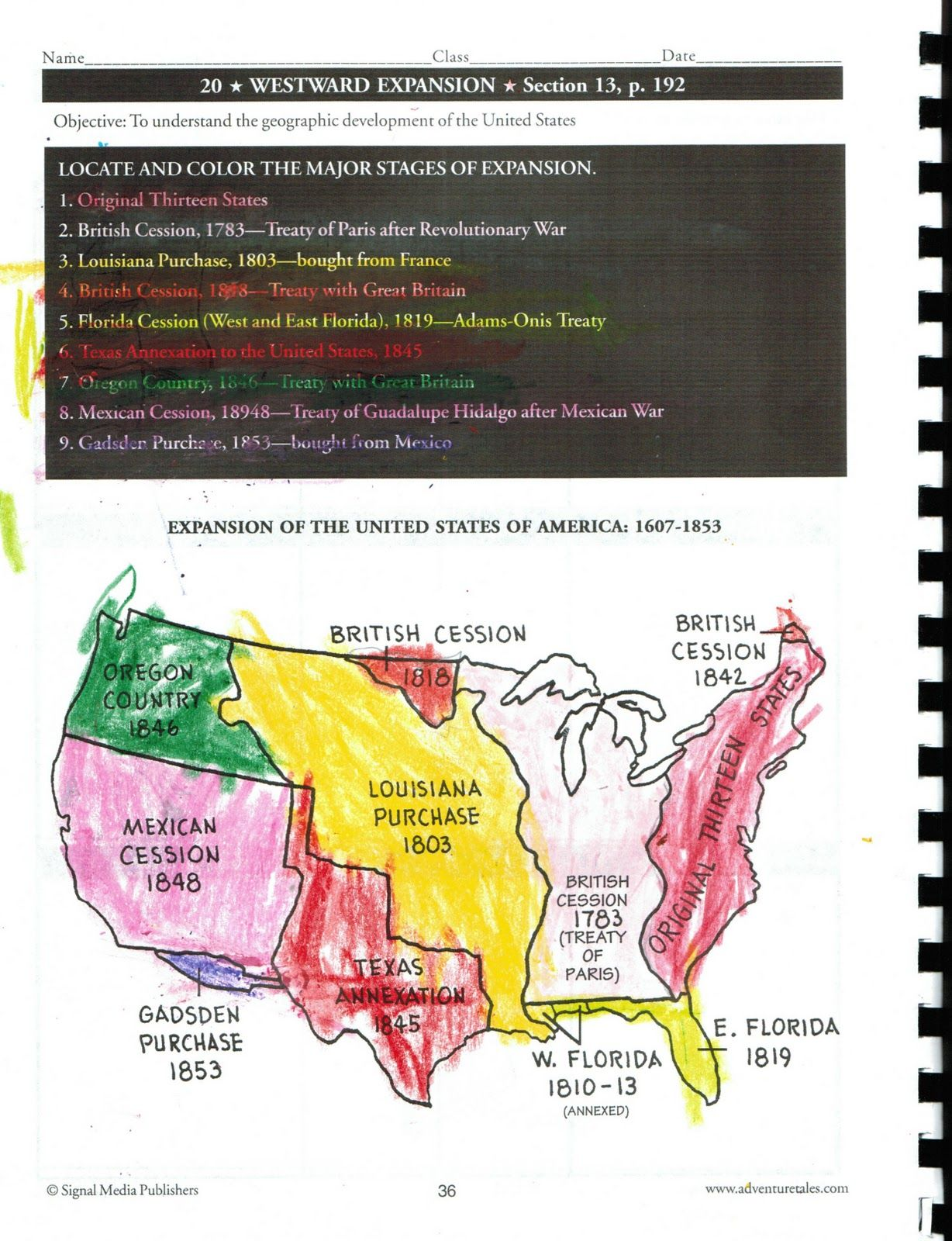 Westward Expansion CC Cycle  History Pinterest Activities - Map of america after louisiana purchase