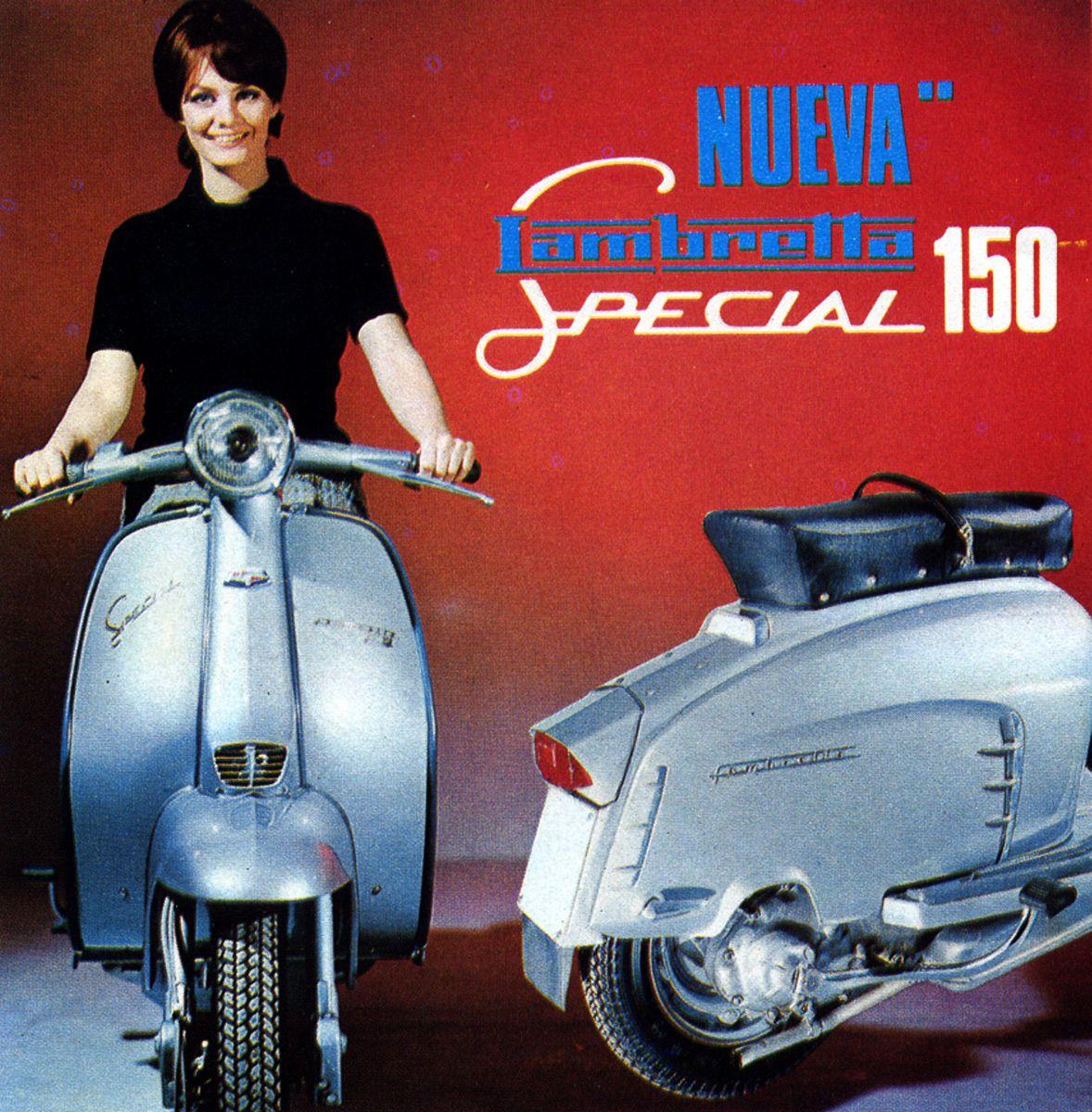 Lambretta Motorcycle Ad, 1966.
