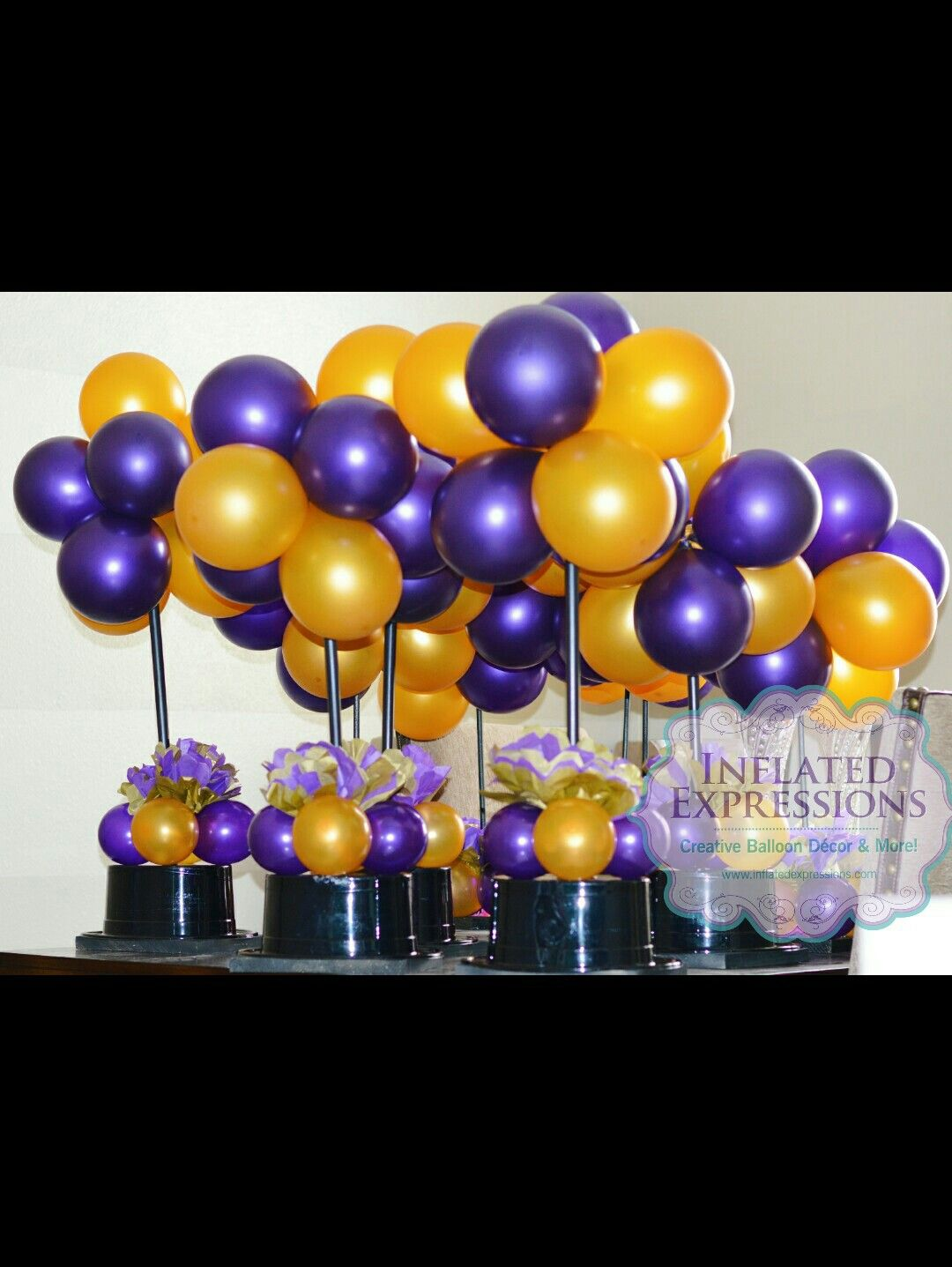 Topiary Ball And Hat Balloon Centerpieces Hats Off To You