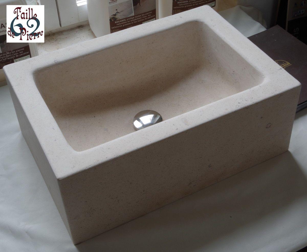 Salle De Bain Architecte D'Interieur ~ Cette Vasque En Pierre Naturelle A T Creus E Dans Une Pierre De