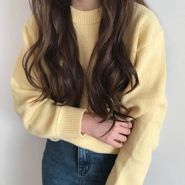 yellow grunge Pastel Aesthetic Sweater tumblr
