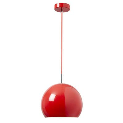 Endon Alzira Red Metal Ceiling Pendant Ceiling Pendant Ceiling Lights Metal Pendant Light