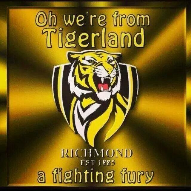 Great Words Richmond Afl Tiger Football Richmond Football Club