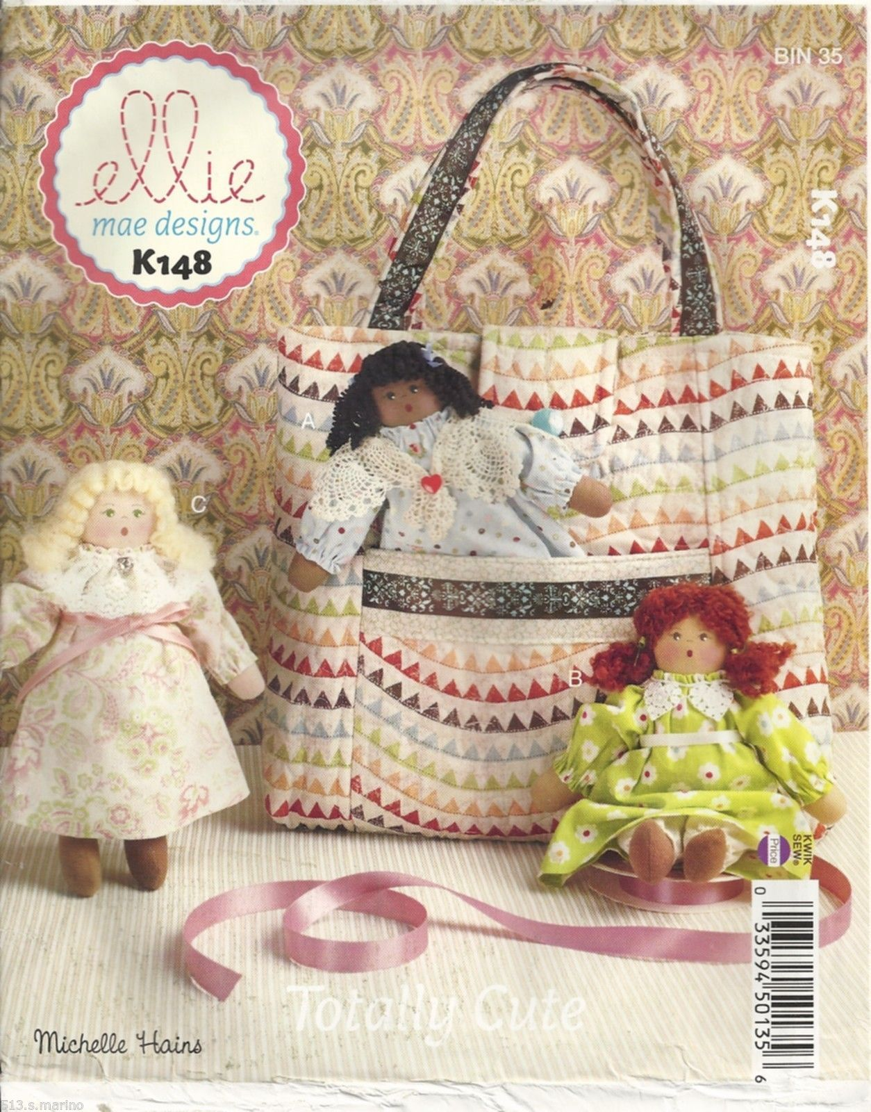 Ellie Mae Designs K148 Tote Dolls by Michelle Hains Sewing Pattern