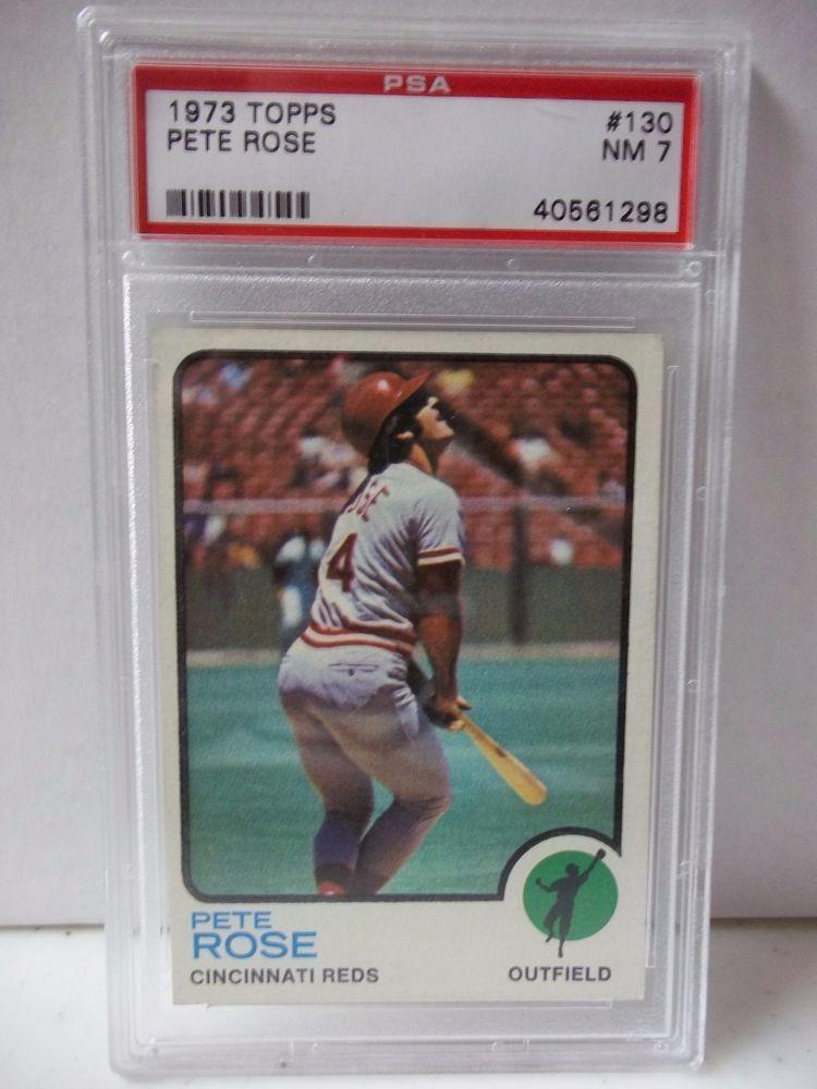 1973 Topps Pete Rose PSA Graded NM 7 Baseball Card 130