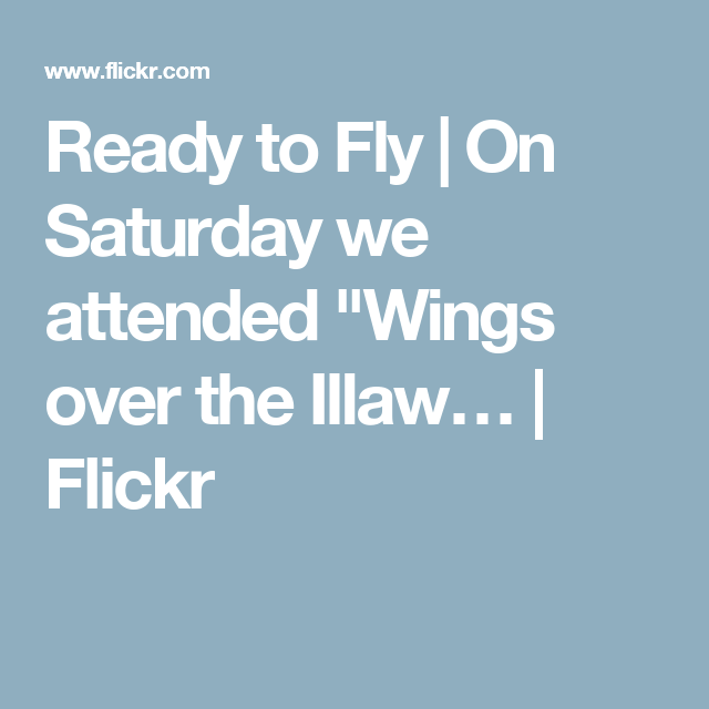 "Ready to Fly | On Saturday we attended ""Wings over the Illaw… 