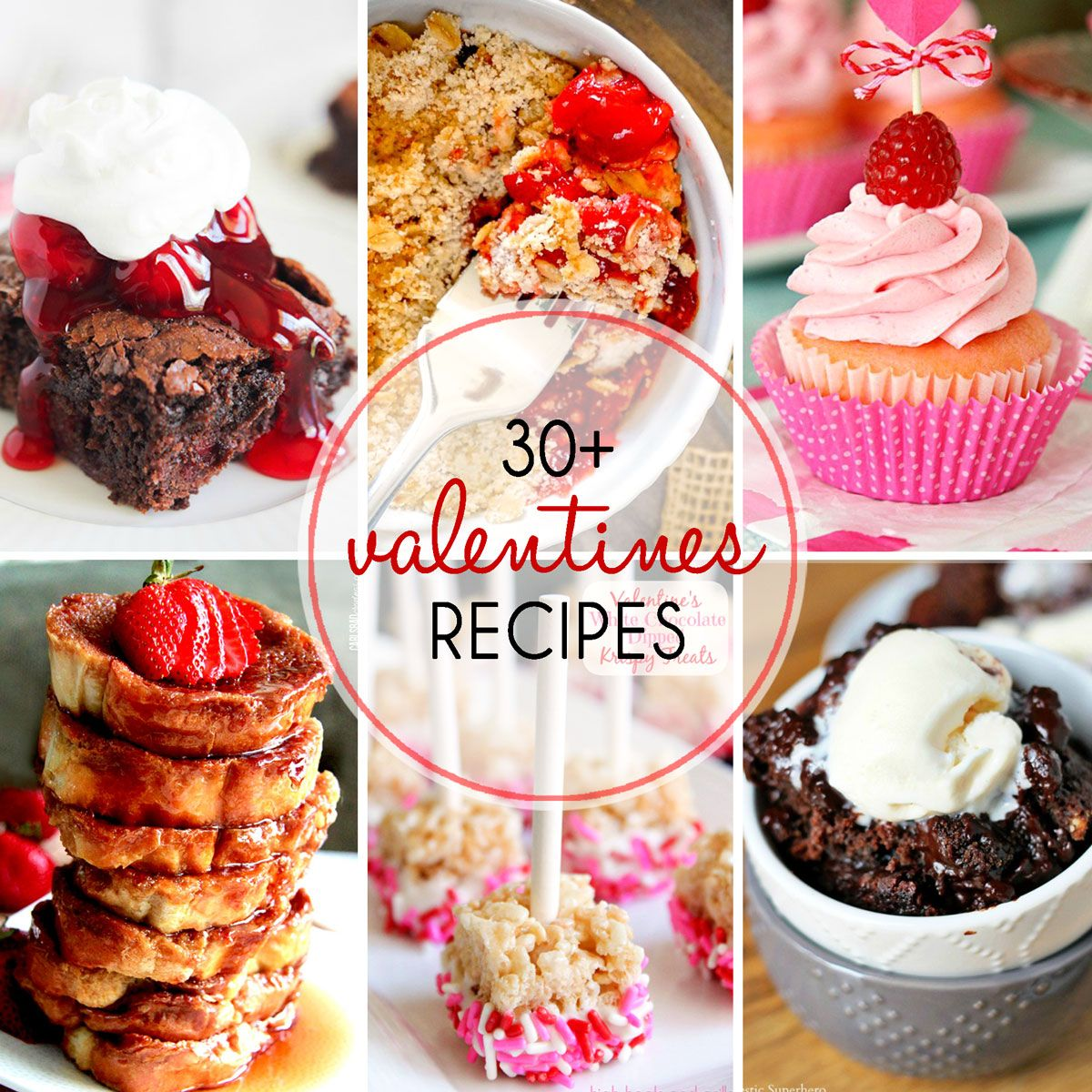 30+  Valentine's Day Desserts \ My Suburban Kitchen - Featured at the Home Matters Linky Party 120