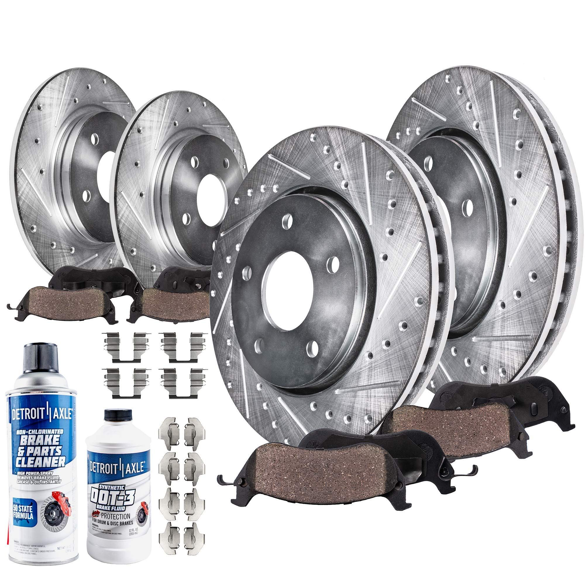 Detroit Axle 10pr1900346 Front And Rear Drilled Slotted Brake Rotors Check Out This Great Product Affilia Ceramic Brake Pads Ceramic Brakes Brakes And Rotors