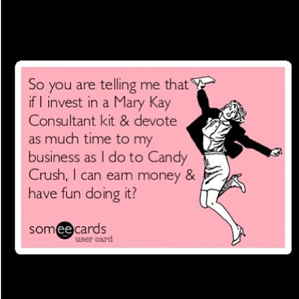 Haha yes! Have fun AND make money! Be a Beauty Consultant ...