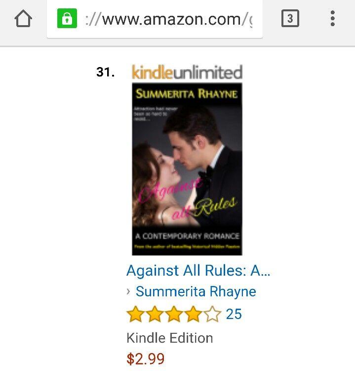 #AgainstAllRules ruling the charts at #Amazon #kindle #romance #AAR  Buy at: https://www.amazon.com/dp/B00MY2QVRS