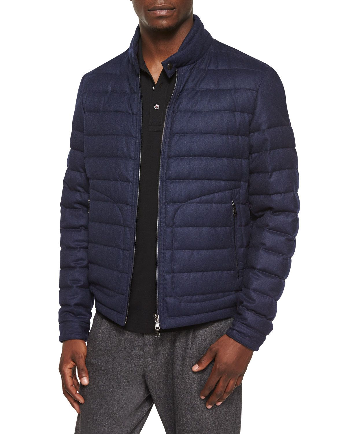 6b9e82948 Delabost Quilted Bomber Jacket