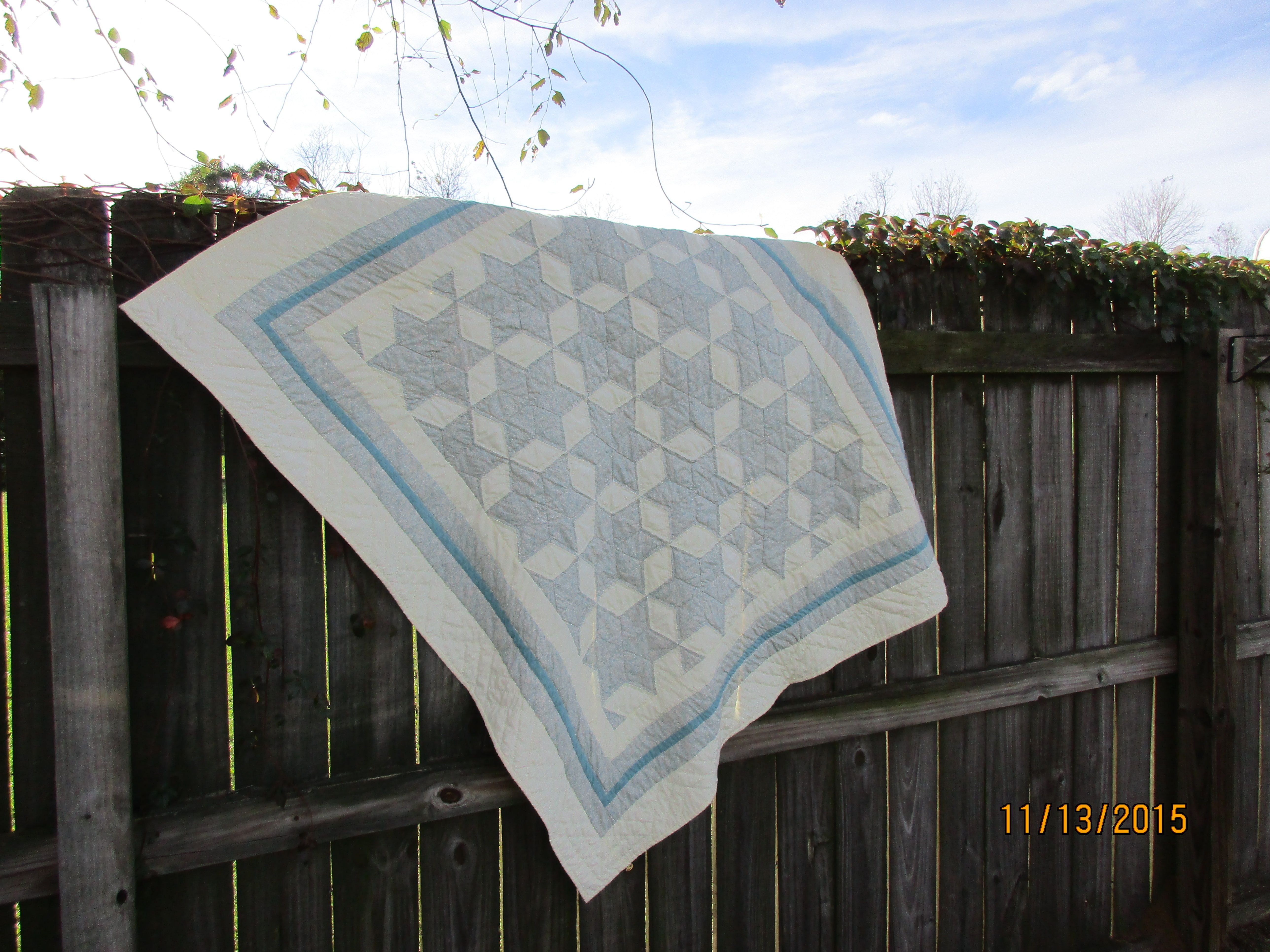 Hand quilted baby quilt by Shawneen Hogg November 14 2015