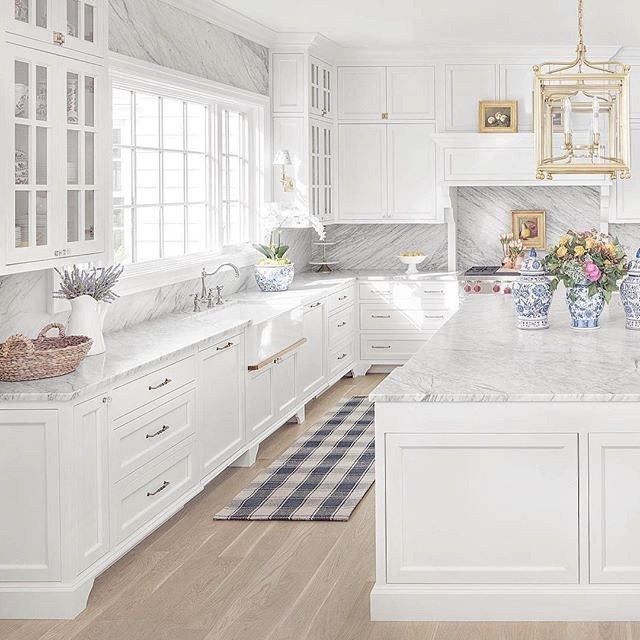 Insanely Gorgeous All White Kitchens - Happy Haute Home