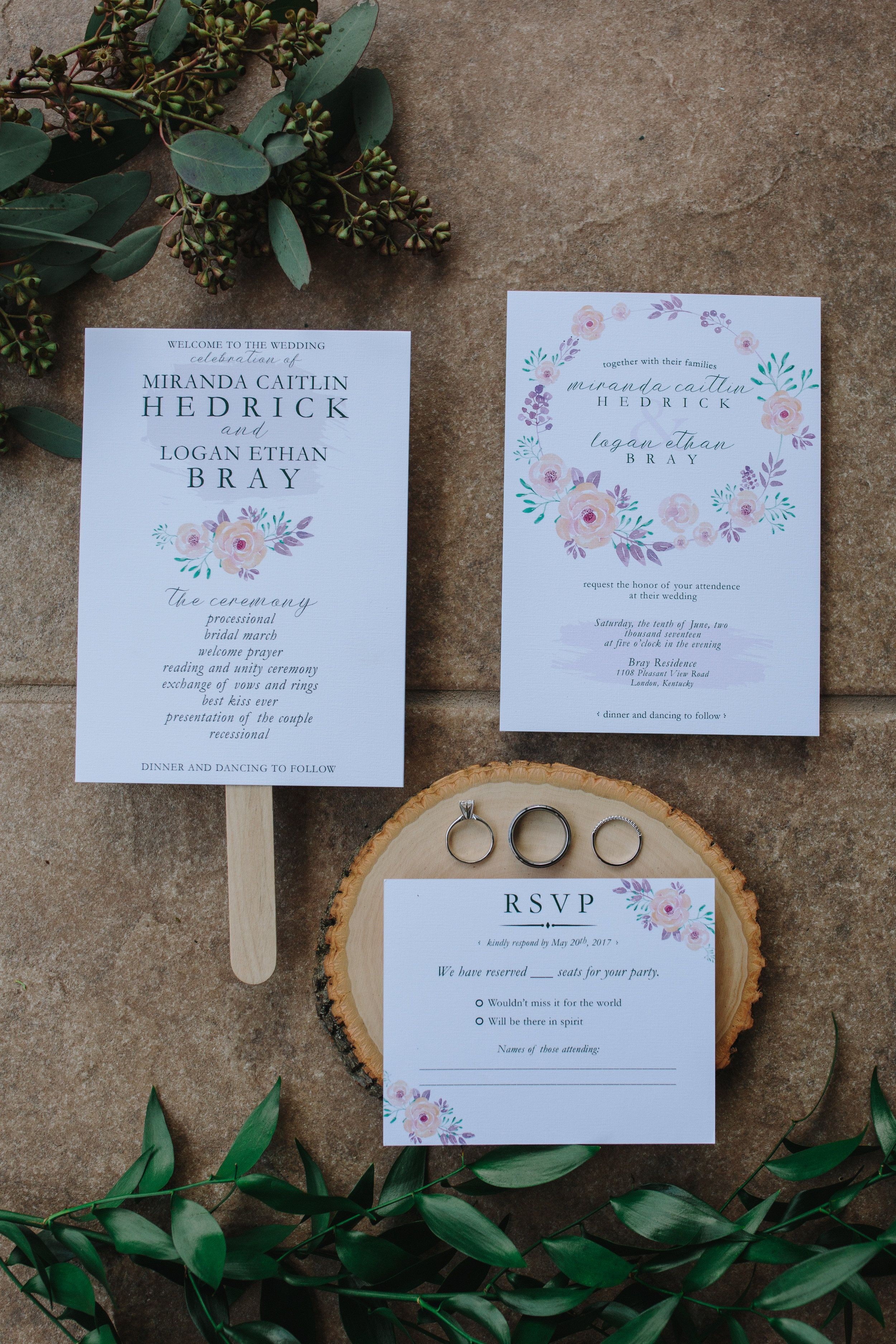 Custom Invitations By Sarah E Dunn An Intimate Carefree