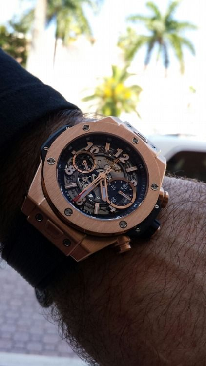 cfe5d3bcea6 Hublot Big Bang Unico Titanium 411.OX.1180.RX Mens Wristwatch 18k rose gold