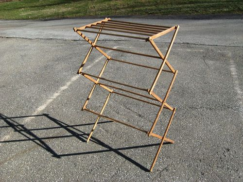 Vintage Folding Clothes Dryer Drying Rack Laundry Wooden Best Thing Remade But Make Sure You Get The Heavy Du Folding Clothes Drying Rack Laundry Drying Rack