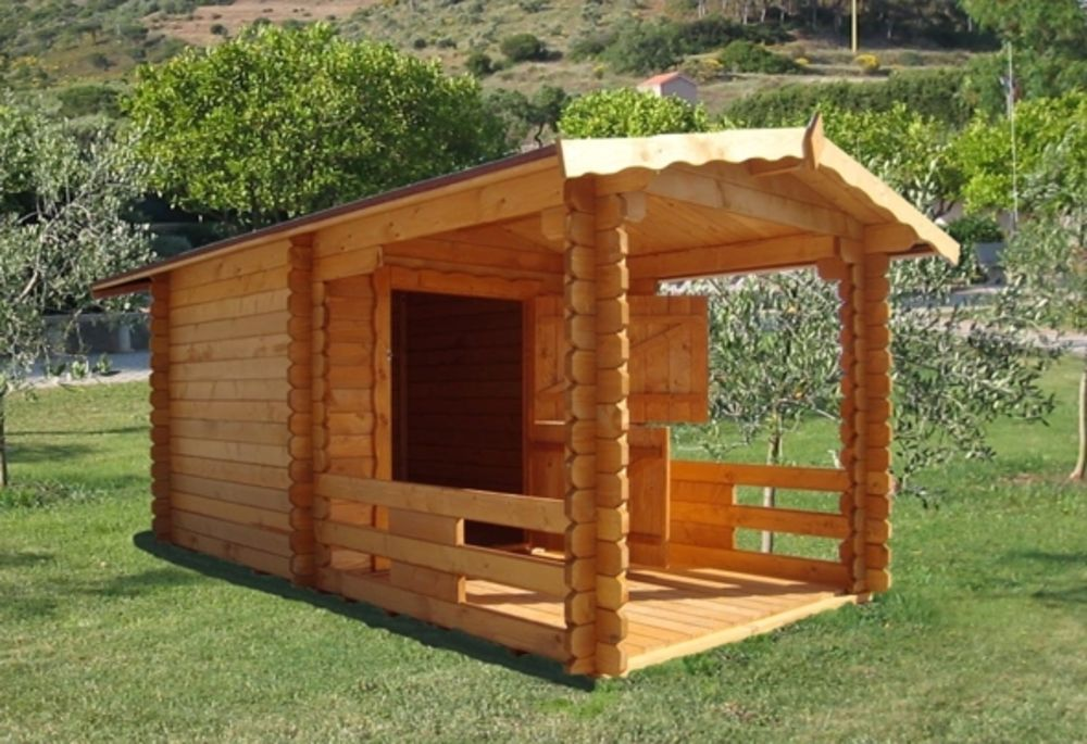 Cuccia in legno 150x150 veranda catalogo prodotti for Piccoli piani cabina con soppalco e veranda